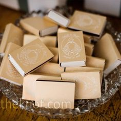 """matchbox wedding favors. Will have """"A Perfect Match"""" stamped on them along with our names and the date."""