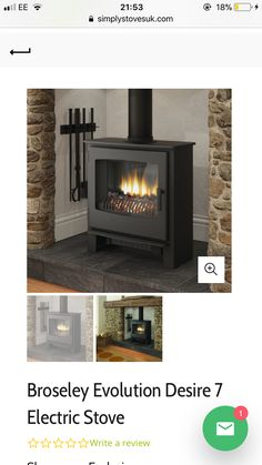 Electric Stove, Fireplaces, Home Appliances, Wood, Fireplace Set, House Appliances, Fire Places, Kitchen Appliances, Electric Range Cookers