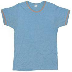 00069288985 Vintage JC Penney T-Shirt 1980's Large Short Sleeve Navy Ringer Made USA  1970's Fashion