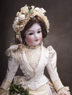 Very rare model doll Lady firm Simon & Halbig, height 55 cm - on the site of antique dolls.