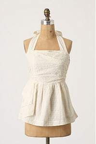 Adorable. Love the neckline and the tie. Would love it even more in a bright blue, red, turquoise or kelly green.