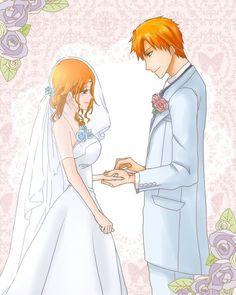 Ichigo y orihime = ichihime Bleach Fanart, Bleach Manga, Anime Couples, Cute Couples, Ichigo E Orihime, Bleach Couples, Bleach Characters, Anime Love Couple, Shinigami