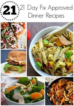 21 Day Fix Dinner Recipes 21 21 Day Fix Approved Dinner Recipes – Delicious, quick, easy, and clean dinner recipes and ideas perfect for the 21 Day Fix! Clean Dinner Recipes, Clean Dinners, Easy Healthy Dinners, Clean Eating Recipes, Healthy Dinner Recipes, Healthy Snacks, Cooking Recipes, Healthy Eating, Vegan Recipes