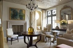 love the calm feel to this room, love neutral, just like!! Lovely in Birmingham. Dana Wolter Interiors.