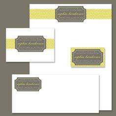 Custom Digital Personalized STATIONARY SUITE Designs - Sophia. $25.00, via Etsy.