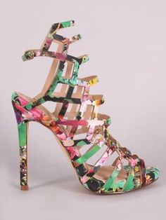 a4dd45632 Asuka Floral Heels. Peep Toe HeelsHigh HeelsStiletto HeelsDiva  FashionFashion TipsBeautiful ShoesPretty ...
