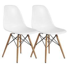 Plastic Dining Side Chair Wood Leg Eiffel Base (Set of 2) (White) Hampton Modern http://www.amazon.com/dp/B00I8C6VNW/ref=cm_sw_r_pi_dp_YseTvb0P4RZ8E