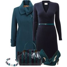 Purple and Teal, created by lisamoran on Polyvore