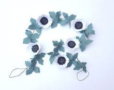 Items similar to Wedding Hair Accessory | Felt Flower Garland Headband With Large Flowers In Neutrals on Etsy
