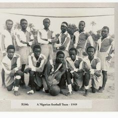 A Nigerian Football team without boots (1949) - under the British colonial empire