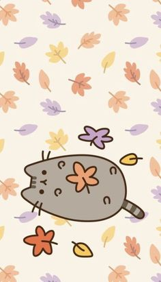 Pusheen the cat iphone wallpaper locked wallpaper, fall wallpaper, kawaii w Wallpaper Gatos, Cats Wallpaper, Cute Fall Wallpaper, Halloween Wallpaper Iphone, Cute Wallpaper Backgrounds, Cellphone Wallpaper, Locked Wallpaper, Iphone Backgrounds, Wallpaper Quotes