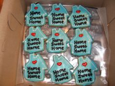 Home Sweet Home (Moving Day) Cookies - Erin Miller Cakes - https://www.facebook.com/erinmillercakes