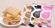 """MOO RUSK""Hokkaido Japan Logo Design, Packaging, Japan, Cheese, Foods, Creative, Hokkaido, Food Food, Food Items"