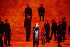 "Marie Arnet in Daniel Bjarnasons opera ""Brothers"" directed by Kasper Holten, set and costume design by Steffen Aarfing, lighting design by Ellen Ruge, video design by Signe Krogh. Aarhus2017"