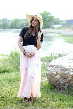 Pleated Maxi Skirt - Lauren McBride