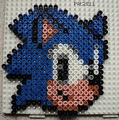 Sonic hama beads by Les loisirs de Pat