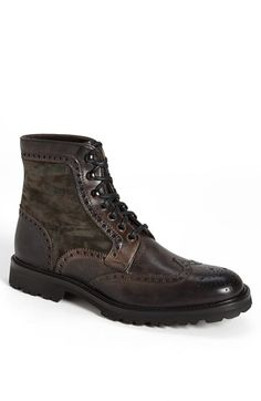 Free shipping and returns on Magnanni 'Enzo' Wingtip Boot at Nordstrom.com. Panels of soft suede and etched leather touch up a burnished boot clad in classic wingtip broguing.