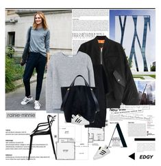 """""""Simple and Boyish"""" by rainie-minnie ❤ liked on Polyvore featuring adidas, Alexander Wang, Canvas by Lands' End, Rebecca Taylor, Mulberry, adidas Originals, Kartell and Murphy"""