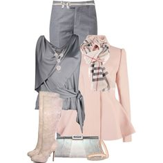 Pink Coat and Burberry Scarf :)
