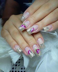 40 Modelos de Unhas com Flores Spring Nails, Summer Nails, Baby Blue Colour, Marble Nail Art, Fabulous Nails, French Nails, Beauty Nails, Nail Art Designs, Artsy