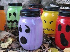 Halloween Painted Jar Luminaries