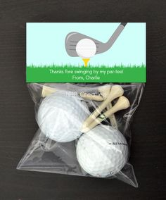 Personalized Golf Treat Bag Topper DIY Printable by NHACreatives