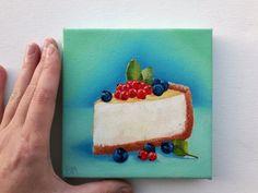 Food Art Painting, Cake Painting, Artist Painting, Knife Painting, Small Paintings, Nature Paintings, Canvas Paintings, Mini Canvas Art, Canvas Canvas