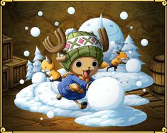 チョッパーの雪遊び