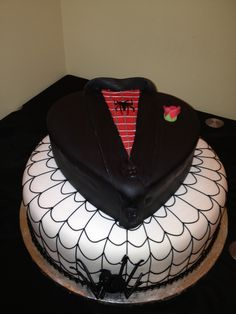 Spider-Man grooms cake.