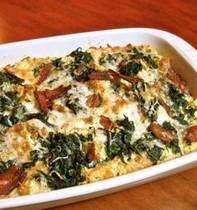 Spinach Strata - make ahead breakfast. :)