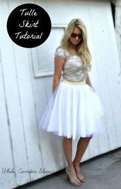 Easy DIY Tulle Skirt. Way cheaper than buying one!