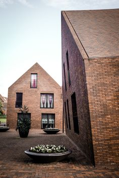 MVRDV, Spiekenisse Library Quarter, Gable, Brick, contemporary