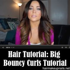 Big Bouncy Curls Tutorial and DIY Ombre Hair