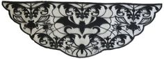 Amazon.com: Wyla Damask Spider and Bats Lace Mantle Scarf, 22 by 60-Inch, Black: Home & Kitchen