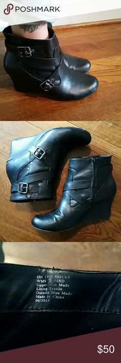 Kenneth Cole wedge booties Strappy buckled wedge booties. Super cute Kenneth Cole Reaction  Shoes Ankle Boots & Booties