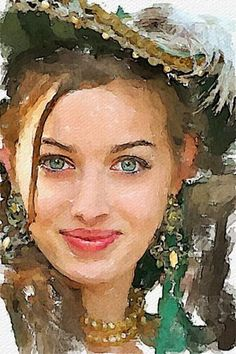 Watercolor by Vitaly Shchukin