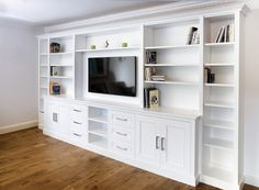 Large Built in TV media unit fitted to a large living room unit Large – Media Room İdeas 2020 Built In Shelves Living Room, Living Room Wall Units, Living Room Storage, Small Living Rooms, Living Room Units Modern, Built In Cupboards Bedroom, Built In Media Center, Living Room Entertainment Center, Built In Wall Units