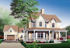 House Plan 65118   Farmhouse   Plan with 1898 Sq. Ft., 3 Bedrooms, 3 Bathrooms