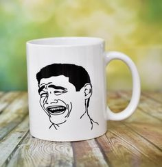 Troll Face Mug by ShopHappyCrafts on Etsy