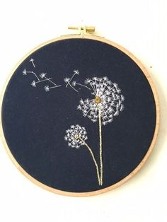 Embroidery hoop Cherry Blossoms, hand embroidered hand made one of a kind pink b. Hoop art Indian Jewellery machine embroidery linen with - Salvabrani how to make french knots embroidery hand embroidery stitches step by step Cherry tree blossom for A Simple Embroidery, Hand Embroidery Stitches, Modern Embroidery, Embroidery Hoop Art, Crewel Embroidery, Hand Embroidery Designs, Cross Stitch Embroidery, Machine Embroidery, Embroidery Ideas