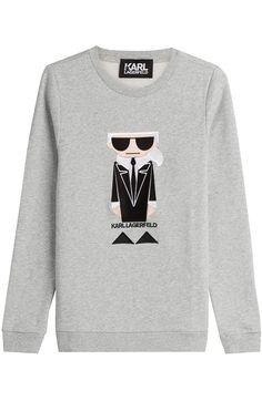 KARL LAGERFELD Kocktail Karl Cotton Sweatshirt. #karllagerfeld #cloth #sweatshirts