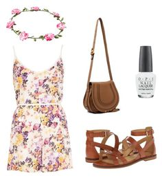 """Summer Floral"" by christineting16 on Polyvore featuring River Island, Enzo Angiolini, OPI, NLY Accessories and Chloé"