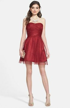 Red dress for christmas party junior