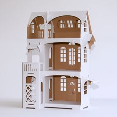 Villa Cartabianca nr 9  Cardboard dollhouse by Cartabianca on Etsy, €12.90