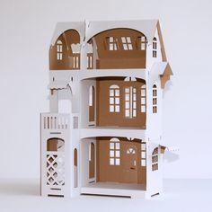 Villa Cartabianca Nr 9 - Cardboard Dollhouse