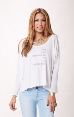 we are supposed to be different tee // Good hYOUman #whatsnew #planetblue