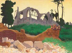 Vallotton, Félix Swiss, 1865 - 1925 The Church of Souain 1917