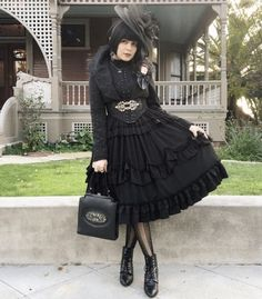 """Gothic Lolita - """"/cgl/ - Cosplay & EGL"""" is imageboard for the discussion of cosplay, elegant gothic lolita (EGL), and anime conventions. Alternative Outfits, Alternative Fashion, Dark Fashion, Asian Fashion, Puffy Skirt, Lolita Cosplay, Gothic Lolita Fashion, Japanese Street Fashion, Gothic Beauty"""