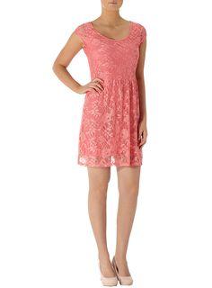 Frenchi cutout back lace dress