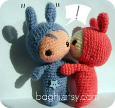 Amigurumi kiss so cute a great crochet make for valentines day or picture for a card